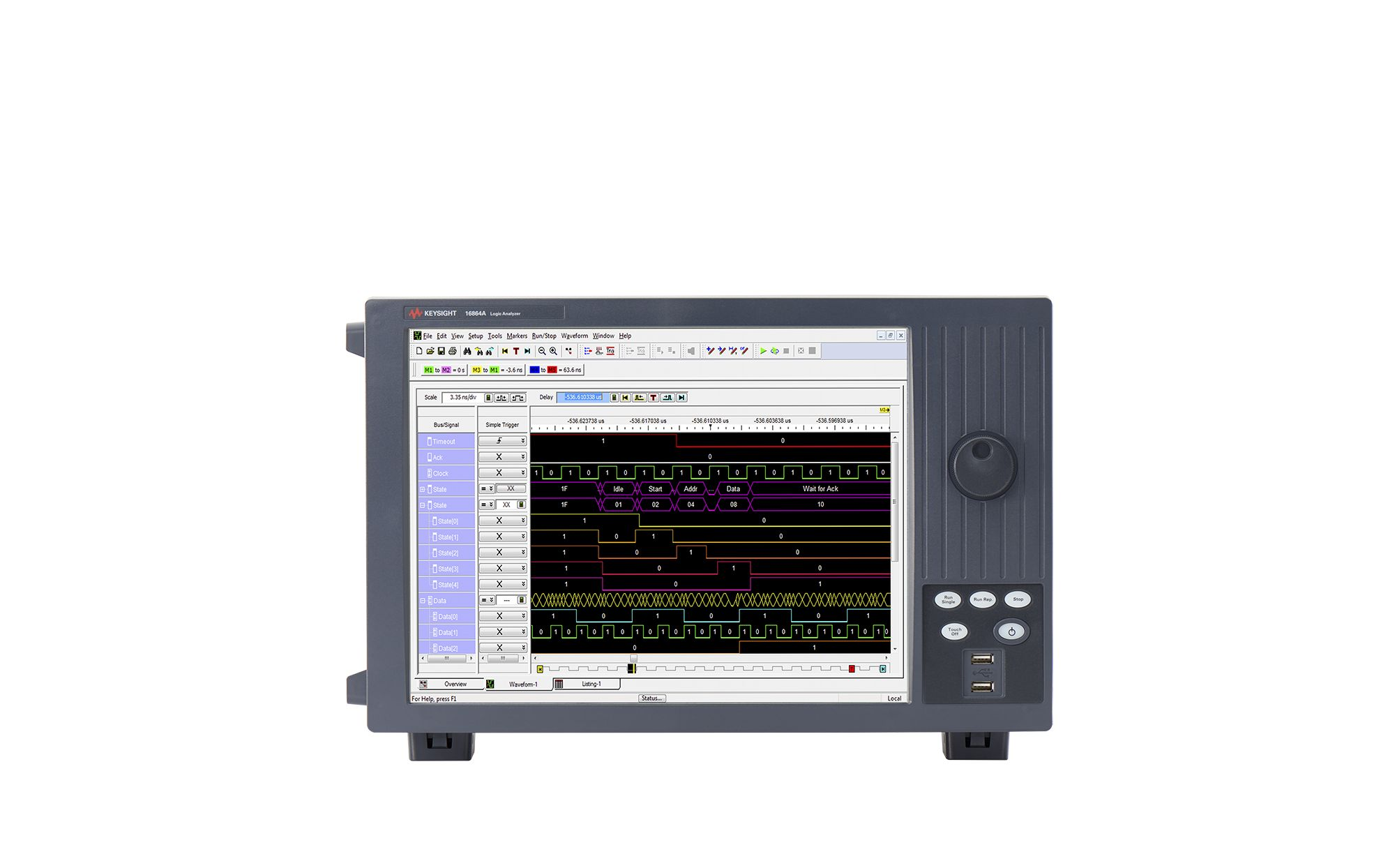 16863A 102-Channel Portable Logic Analyzer