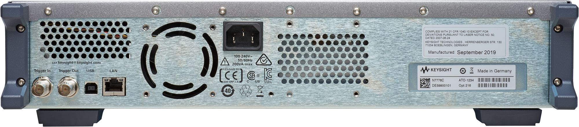 N7778C Tunable Laser Source, High Power and Low SSE, Value Line