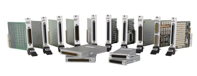 M9102A PXI High-Density Multiplexer: 128-ch, 1-Wire, 100Vrms/1A, Reed Relays