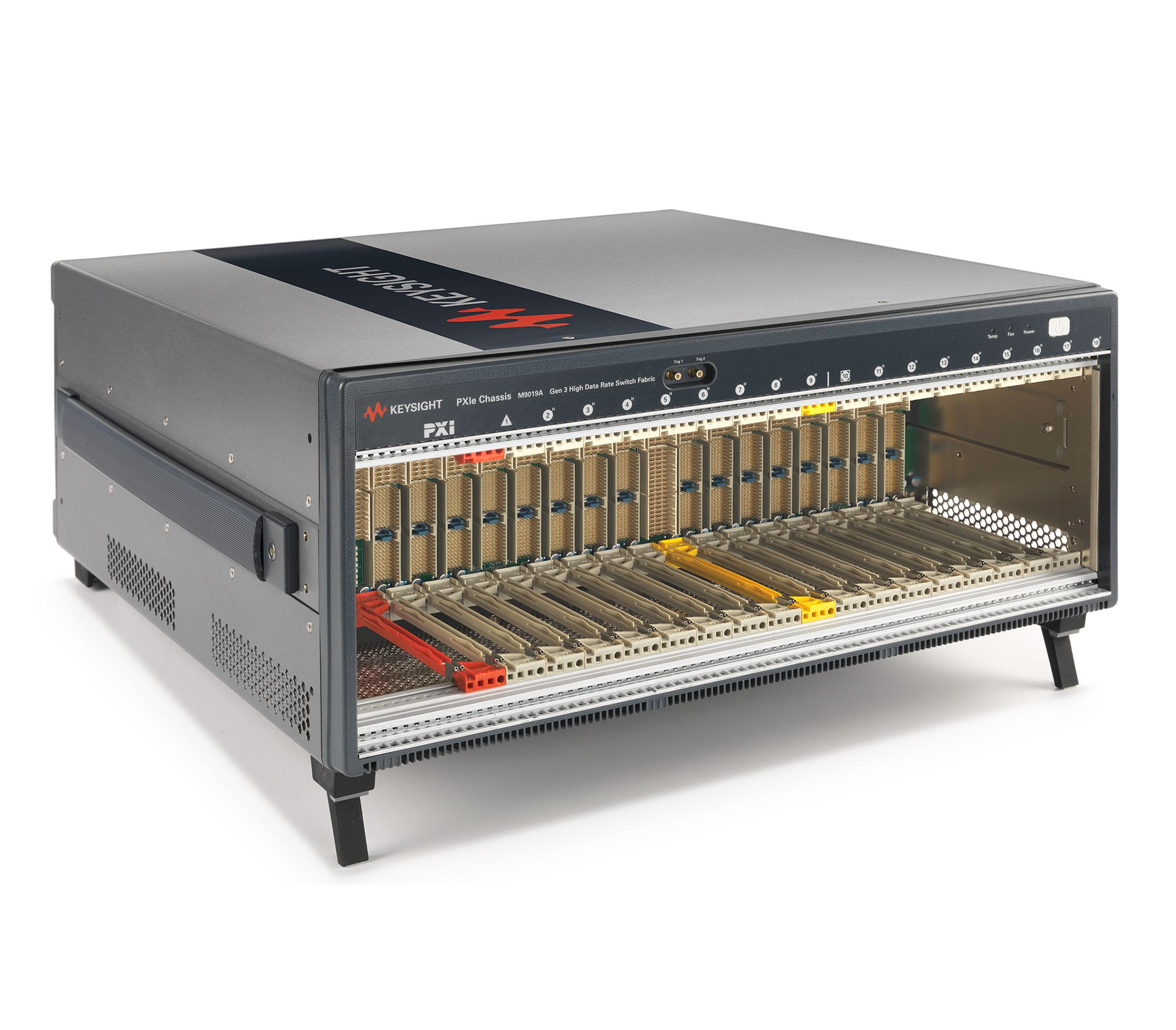M9019A PXIe Chassis: 18-slot, 3U, 24 GB/s, Gen 3