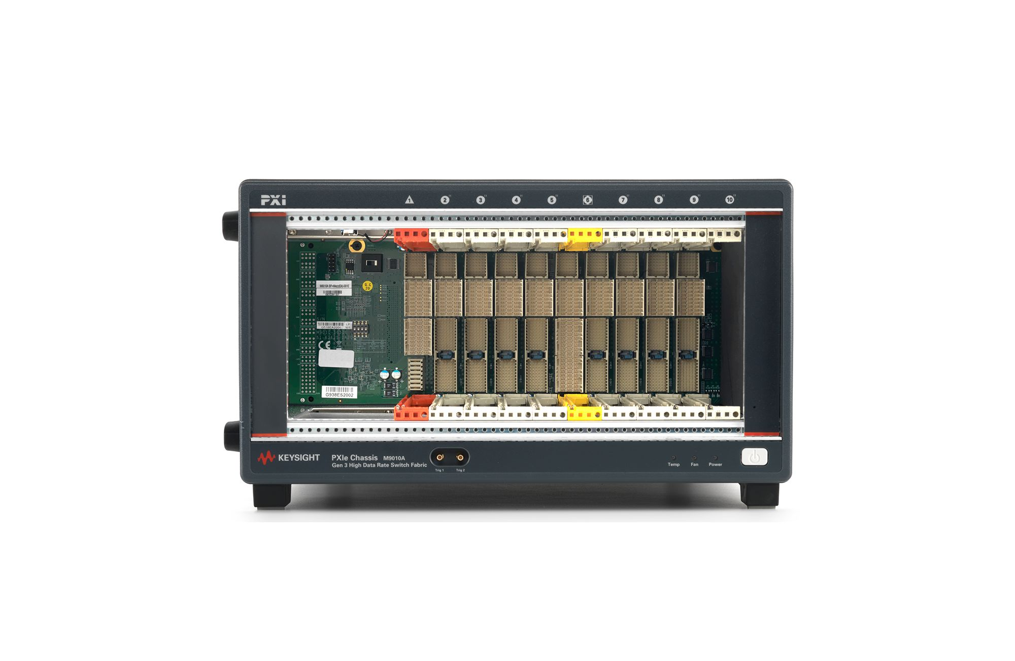 M9010A PXIe Chassis: 10-slot, 3U, 24 GB/s, Gen 3