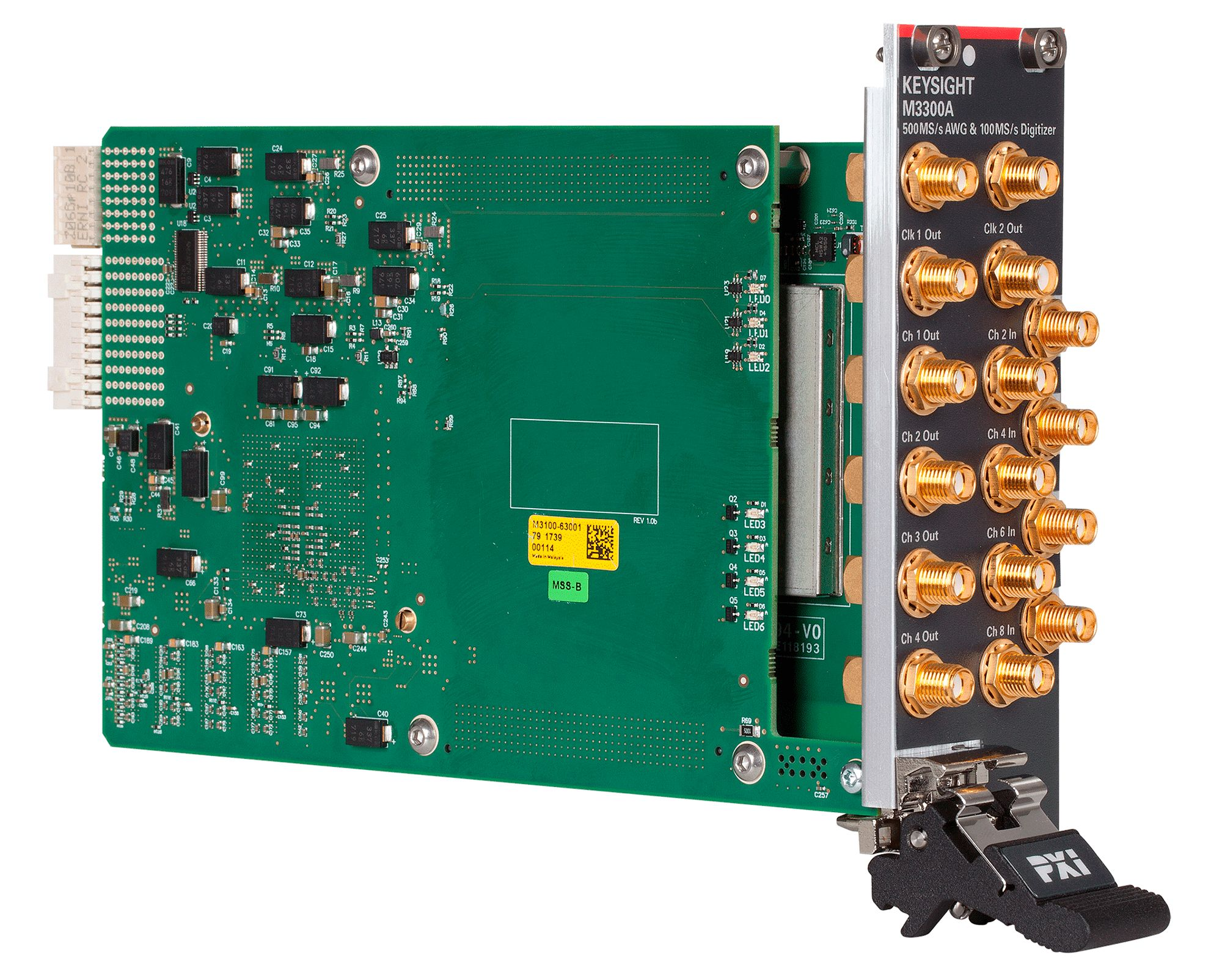 M3300A PXIe AWG and Digitizer Combination, 500 MSa/s, 16 bit and 100 MSa/s, 14 bit