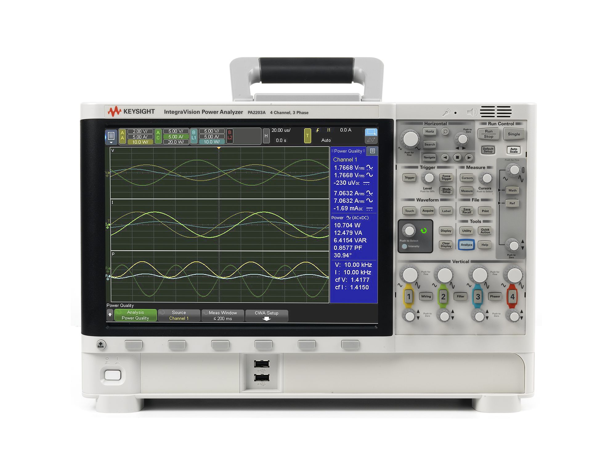 PA2203A IntegraVision Power Analyzer, 4 Channels, 3-Phase AC