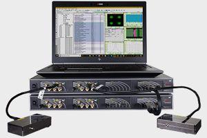 A Keysight network analyzer