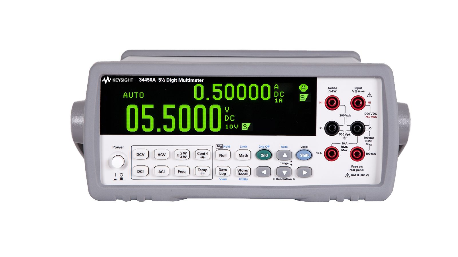 34450A electric test meter with 5.5 digit OLED display