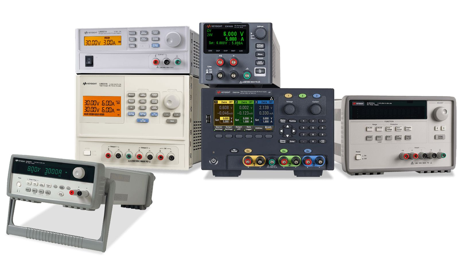 A selection of bench power supply, programmable power supply, and variable dc power supply