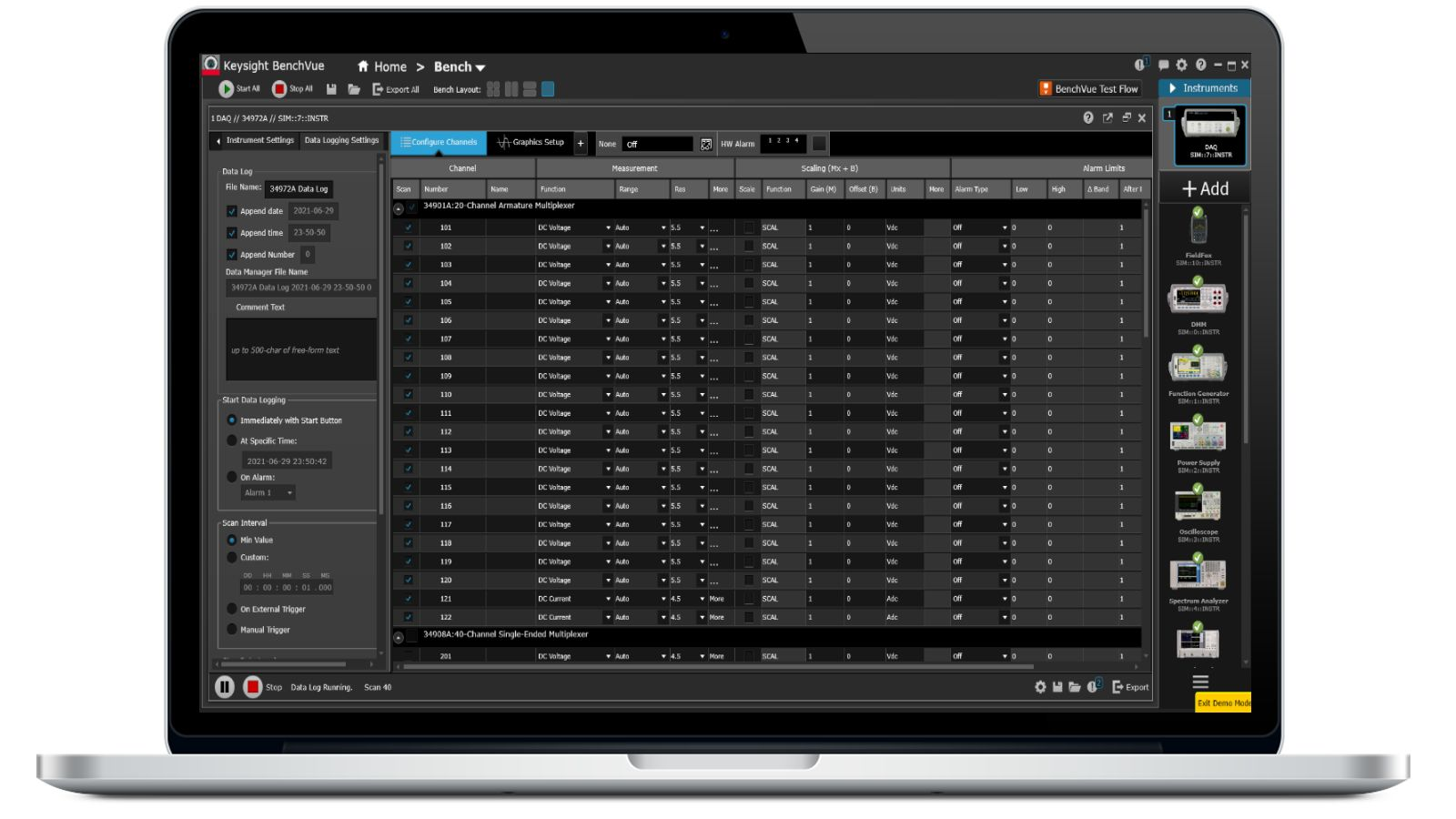 PathWave Bench DMM Software enable each connection and control without programming