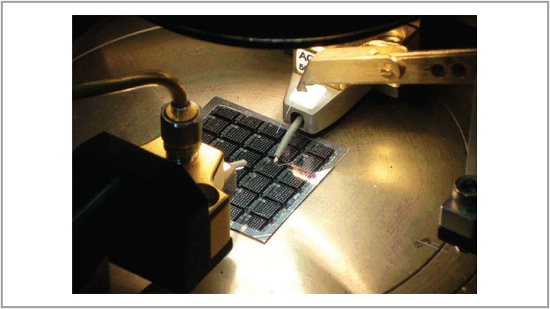 On-Wafer Testing of Opto-Electronic Components