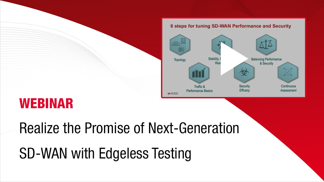 Realize the Promise of Next-Generation SD-WAN with Edgeless Testing