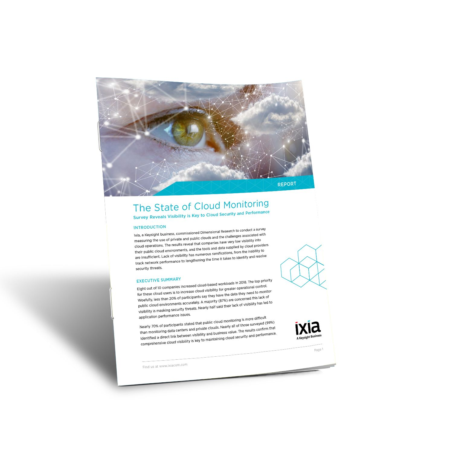 Report cover on The State of Cloud Monitoring