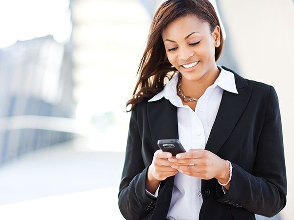 Photo of woman with smart phone