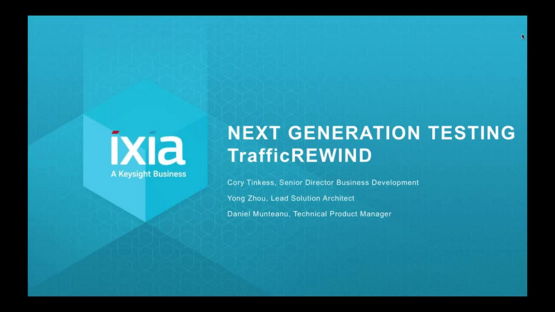 Next-Generation Testing with TrafficREWIND