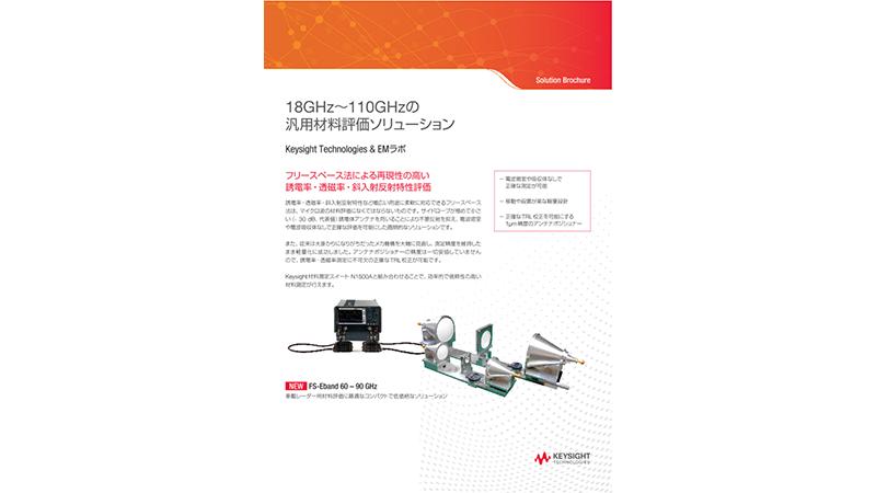 18GHz~110GHzの汎用材料評価ソリューション