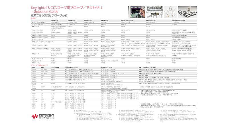 Keysightオシロスコープ用プローブ/アクセサリ