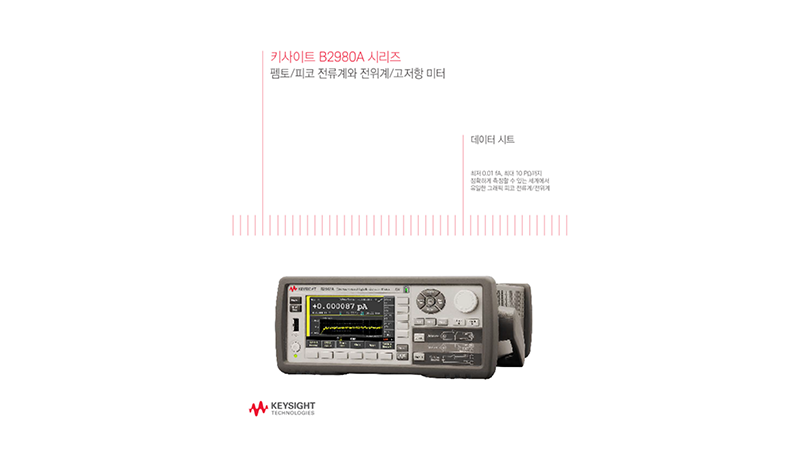 B2980A Series Femto/Picoammeter and Electrometer/High Resistance Meter