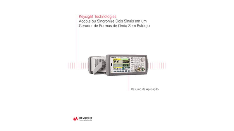 Acople ou sincronize dois sinais em um gerador de formas de onda sem esforço - Resumo de aplicação