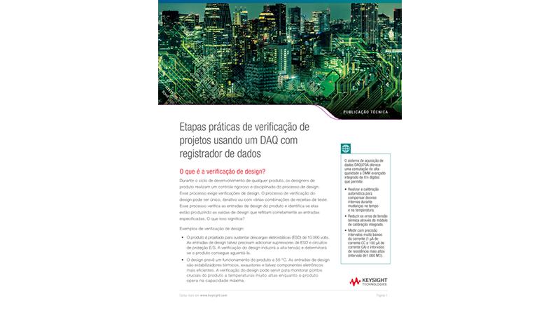 Etapas práticas de verificação de projetos usando um DAQ (Data AcQuisition) ou registrador de dados