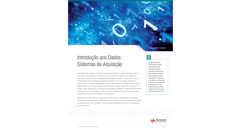 Introdução aos sistemas de aquisição de dados