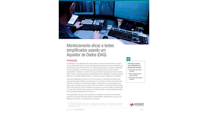 Monitoramento eficaz e testes simplificados usando um Aquisitor de Dados (DAQ)