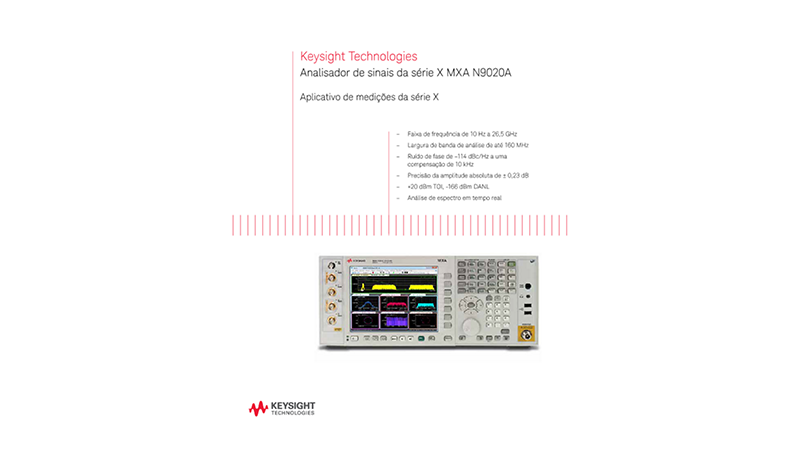 MXA X-Series Signal Analyzer N9020A – Brochure
