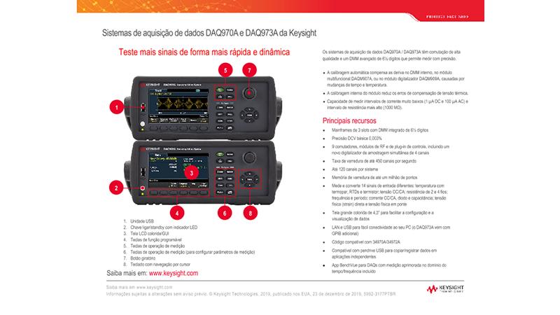 Sistema de Aquisição de Dados DAQ970A