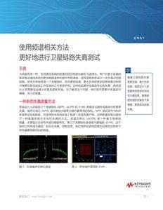 使用频谱相关方法更好地进行卫星链路失真测试