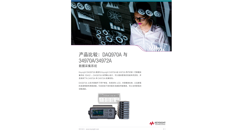 DAQ970A to 34970A and 34972A Data Acquisition System
