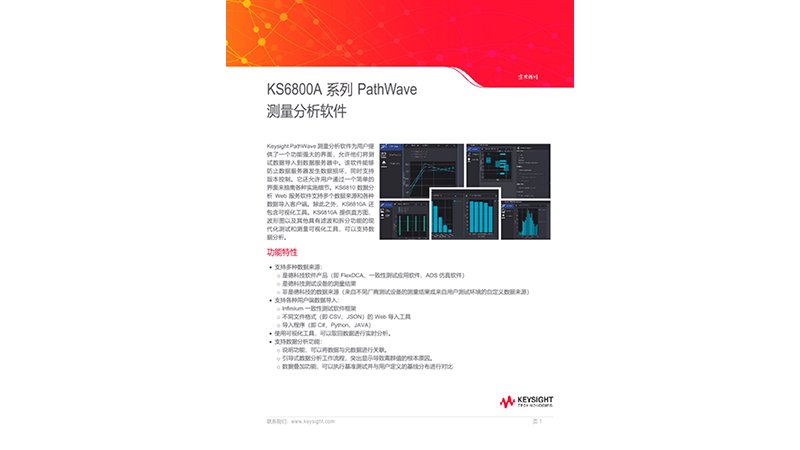 KS6800A 系列 PathWave 测量分析软件