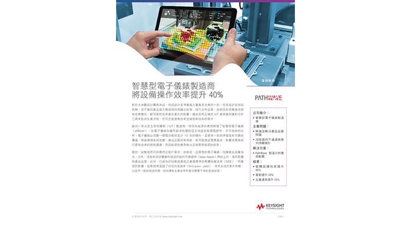 智慧型電子儀錶製造商將設備操作效率提升 40%