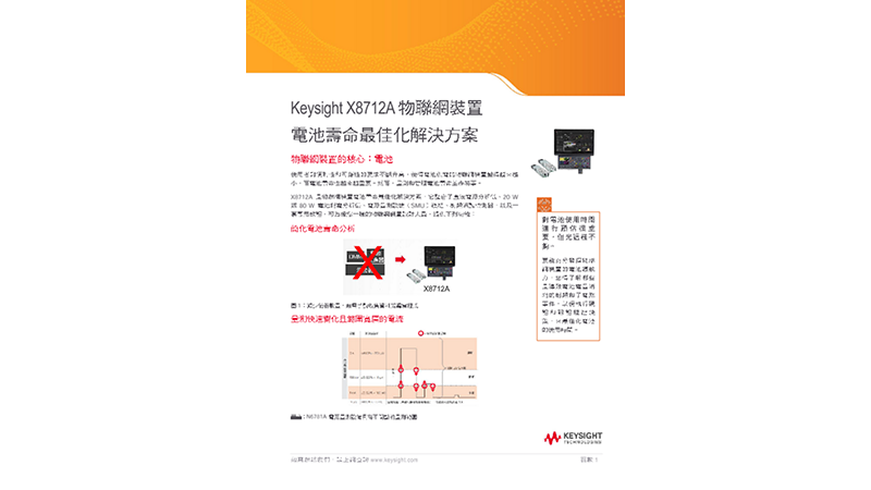 X8712A IoT Device Battery Life Optimization Solution